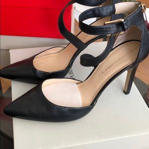 Banana Republic Jovana Heels Black Leather Size 10